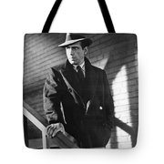 Humphrey Bogart Stairs The Maltese Facon 1941  Tote Bag