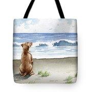 Hungarian Vizsla At The Beach Tote Bag