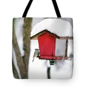 A Hungry Chickadee Tote Bag