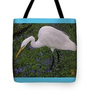 Hungry Great Egret Tote Bag