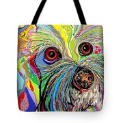 Hunter The Bichon . . . He's A Shoe Man Tote Bag