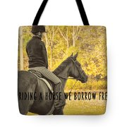 Hunter Art Quote Tote Bag