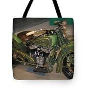 Hunter Green Indian Motorcycle...   # Tote Bag