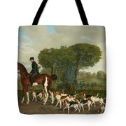 Hunter With A Pack Of Dogs Tote Bag