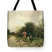 Hunters Taking A Break Tote Bag