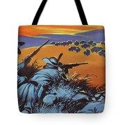 Hunting Buffalo In America Tote Bag