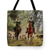 Hunting Dogs For Wild Boar Tote Bag