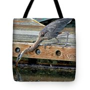 Hunting Heron Tote Bag