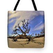 Hunting Island Beach And Driftwood Tote Bag