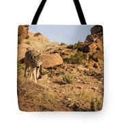 Hunting Wolf Tote Bag