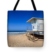 Huntington Beach Lifeguard Tower Photo Tote Bag by Paul Velgos