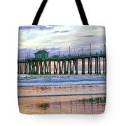 Huntington Beach Pier Panorama Colo Tote Bag