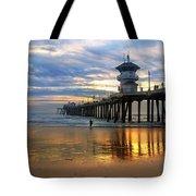 Huntington Beach Pier Sunset Tote Bag
