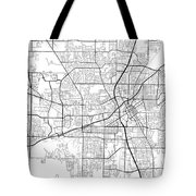 Huntsville Alabama Usa Light Map Tote Bag
