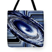 Hurricane In Space Abstract Tote Bag