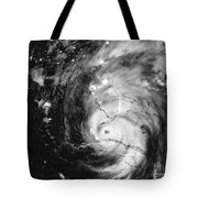 Hurricane Irma Infrared Tote Bag
