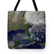 Hurricane Sandy Battering The United Tote Bag