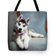 Husky Puppy II Tote Bag