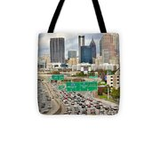 Hustle And Bustle On The Highways And Byways Tote Bag