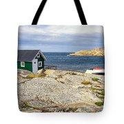 Hut On The Rocks Tote Bag