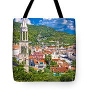Hvar Architecture And Nature Vertical View Tote Bag