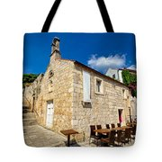 Hvar Old Stone Church And Antic Steps Tote Bag