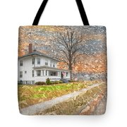 H.w Baker House Tote Bag