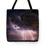 Hwy 52 - Hwy 287 Lightning Storm Image 29 Tote Bag