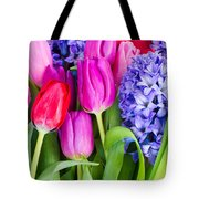 Hyacinth And  Tulip Flowers Tote Bag