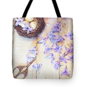 Hyacinth Flowers And Nest Tote Bag