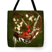 Hyacinth Heart Tote Bag