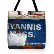 Hyannis Massachusetts Fishing Boat Tote Bag