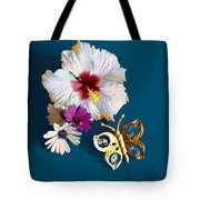 Hybiscus And Butterfly Tote Bag
