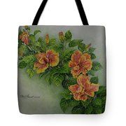 Hybrid Hibiscus Tote Bag