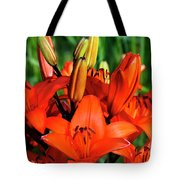 Hybrid Lilies Tote Bag