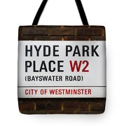 Hyde Park Place Tote Bag