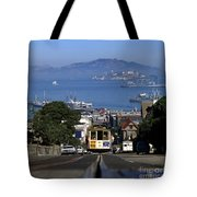 Hyde Street Cable Car 1978 Tote Bag
