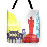 Hyderabad Skyline Pop Tote Bag
