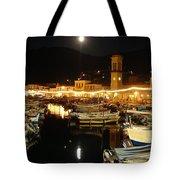 Hydra Island By Night  Tote Bag