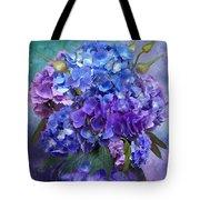 Hydrangea Bouquet - Square Tote Bag