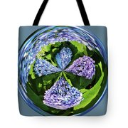 Hydrangea Cross Tote Bag