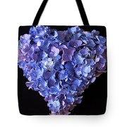 Hydrangea Heart Tote Bag