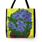 Hydrangea In A Pot Tote Bag