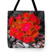 Hydrangea In Carmine Tote Bag