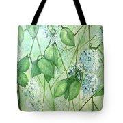 Hydrangea In Green Tote Bag
