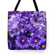 Hydrangeas And Daisies So Purple Tote Bag