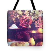 Hydrangeas And Pears Vignette Tote Bag