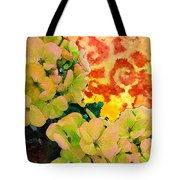 Hydrangeas And Swirls Tote Bag
