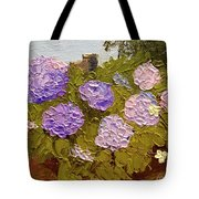 Hydrangeas On The Creek Bank Tote Bag