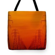Hydro Power Lines And Towers Tote Bag